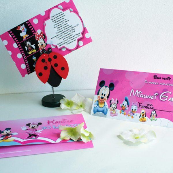 Invitatie pentru botez cu Minnie Mouse 2