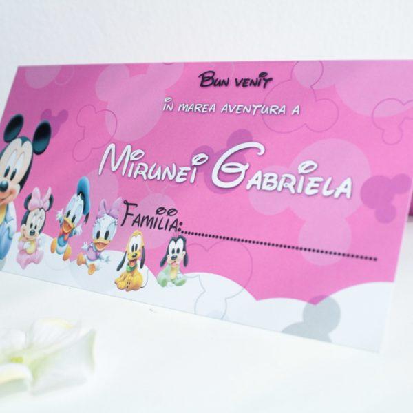 Plic de bani pentru botez cu Mickey Mouse