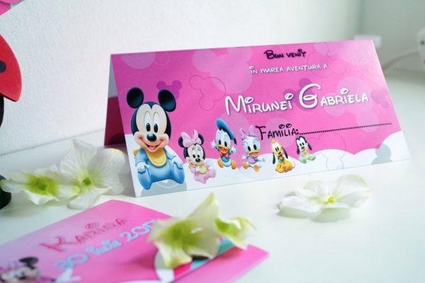 Plic de bani pentru botez cu Minnie Mouse, model pe roz 2