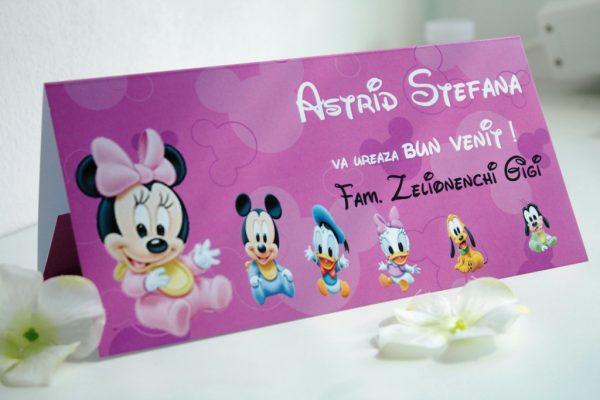 Plic de bani pentru botez cu Minnie Mouse, model pe roz
