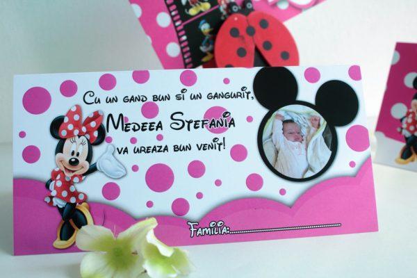 Plic de bani cu Minnie Mouse si poza copilului 3