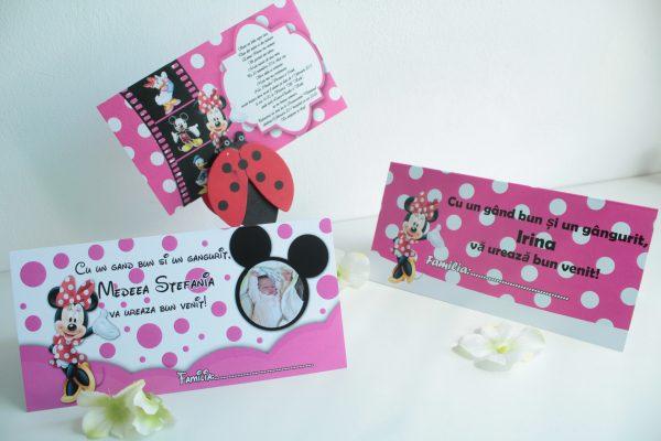 Plic de bani cu Minnie Mouse si poza copilului 2