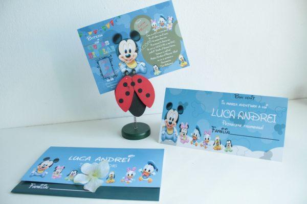 Invitatie pentru botez cu Mickey si Minnie Mouse 2