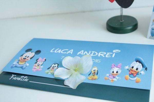 Plic pentru invitatie cu Mickey Mouse