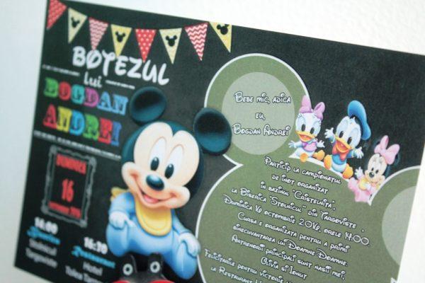 Invitatie botez cu baby donald si daisy