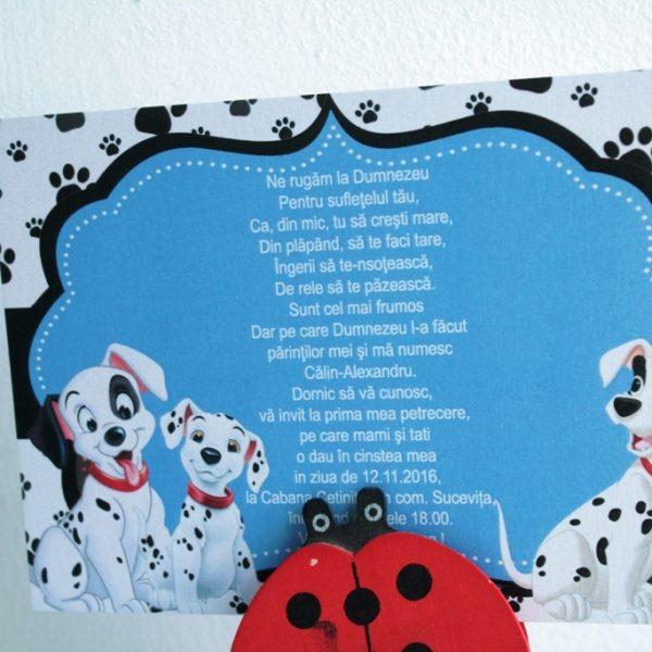 Invitatie cu dalmatieni