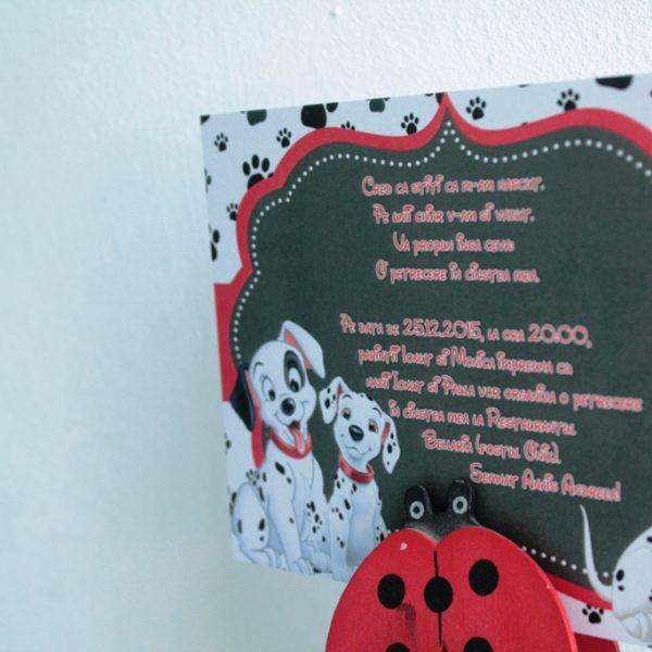 invitatie botez cu dalmatieni