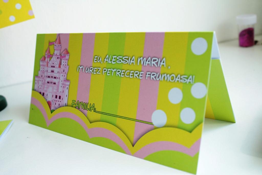 Plic de bani pentru botez verde galben roz