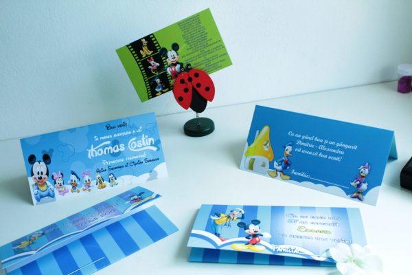 Invitatie cu Mickey Mouse diverse culori