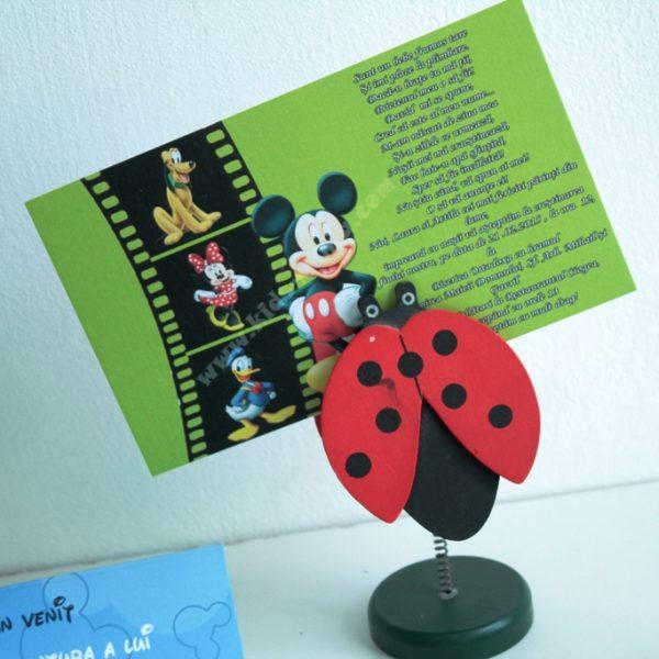 invitatie verde cu mickey mouse
