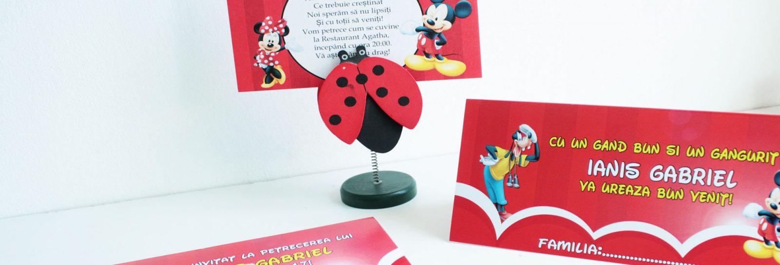 Plicuri de bani si invitatii pentru botez cu Mickey Mouse