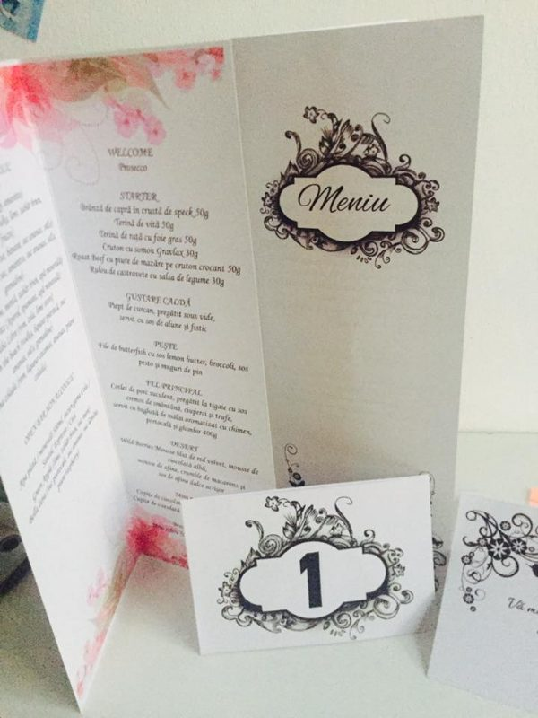 Numere de masa Black and White pentru nunta