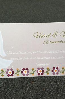 Plicuri de bani pentru nunta model Valentina