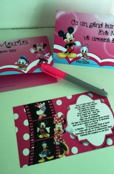 Set invitatie botez cu Minnie Mouse
