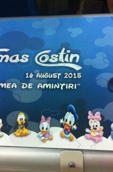Carte de amintiri pentru botez cu Mickey Mouse