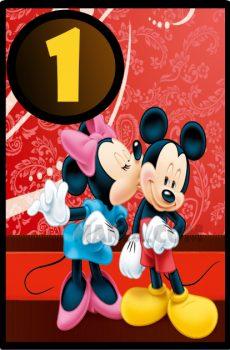 Numar de masa pentru botez cu Minnie Mouse