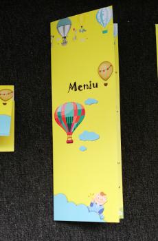 Set plicuri de bani si meniuri tematica baloane cu aer cald