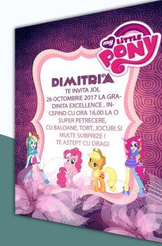 Invitatie petreceri copii cu My Little Pony