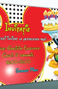 Model de invitatie cu Mickey Mouse