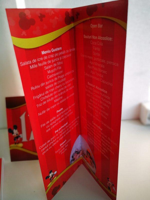 Meniuri si numere de masa cu Mickey Mouse 3