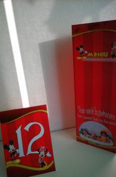 Meniuri si numere de masa cu Mickey Mouse