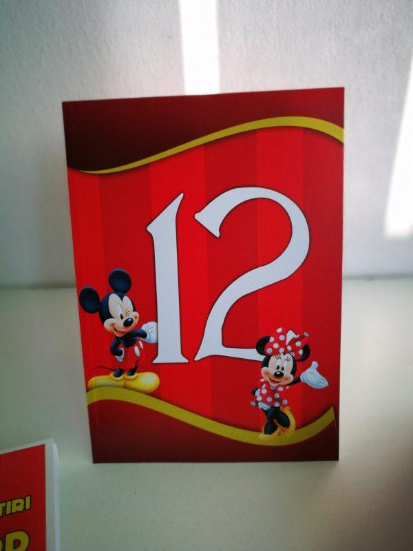Meniuri si numere de masa cu Mickey Mouse 4