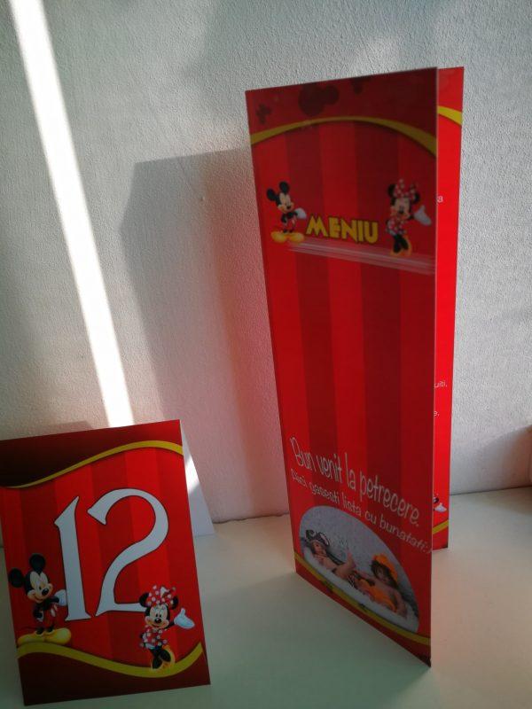 Meniuri si numere de masa cu Mickey Mouse 2