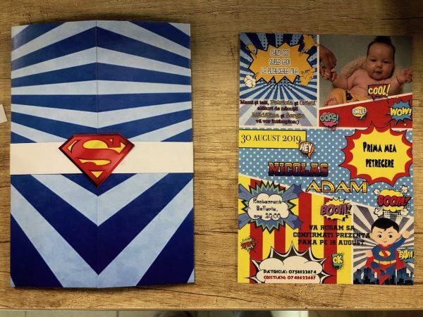 invitatie de botez cu superman
