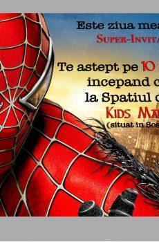 invitatii petreceri copii cu spiderman