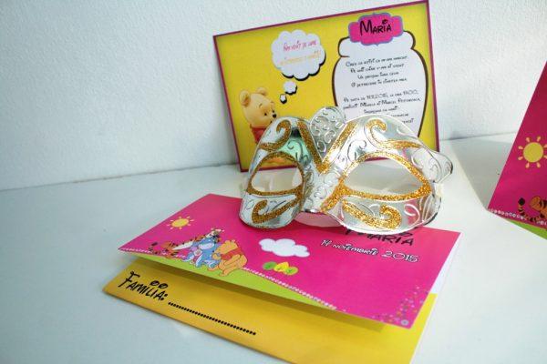 Invitatie botez roz cu Winnie the pooh 2