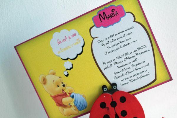 Invitatie botez roz cu Winnie the pooh 3