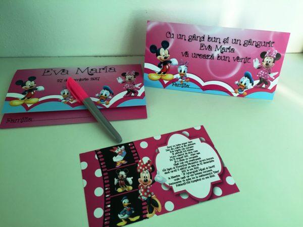 Set invitatie botez cu Minnie Mouse 5
