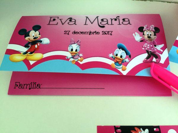Set invitatie botez cu Minnie Mouse 4