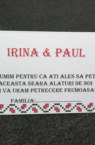 Plic de bani nunta model traditional romanesc