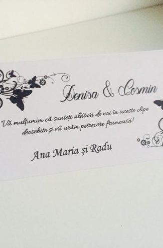 Plic de bani pentru nunta Black and White