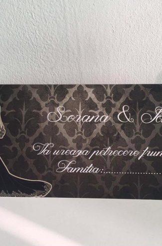 Plic de bani pentru nunta Mire si Mireasa