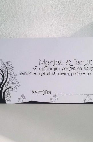 Plic de bani pentru nunta model Copac
