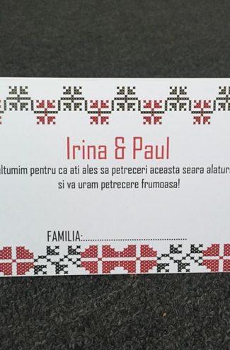 Plic de bani pentru nunta model traditional romanesc