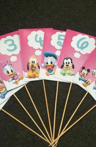 Numere de masa cu baby personaje Disney